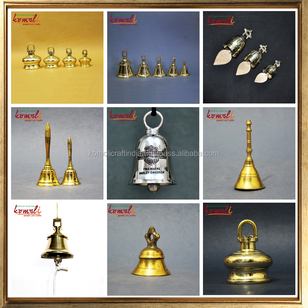 Custom designs & plating small church metal temple brass ship bell