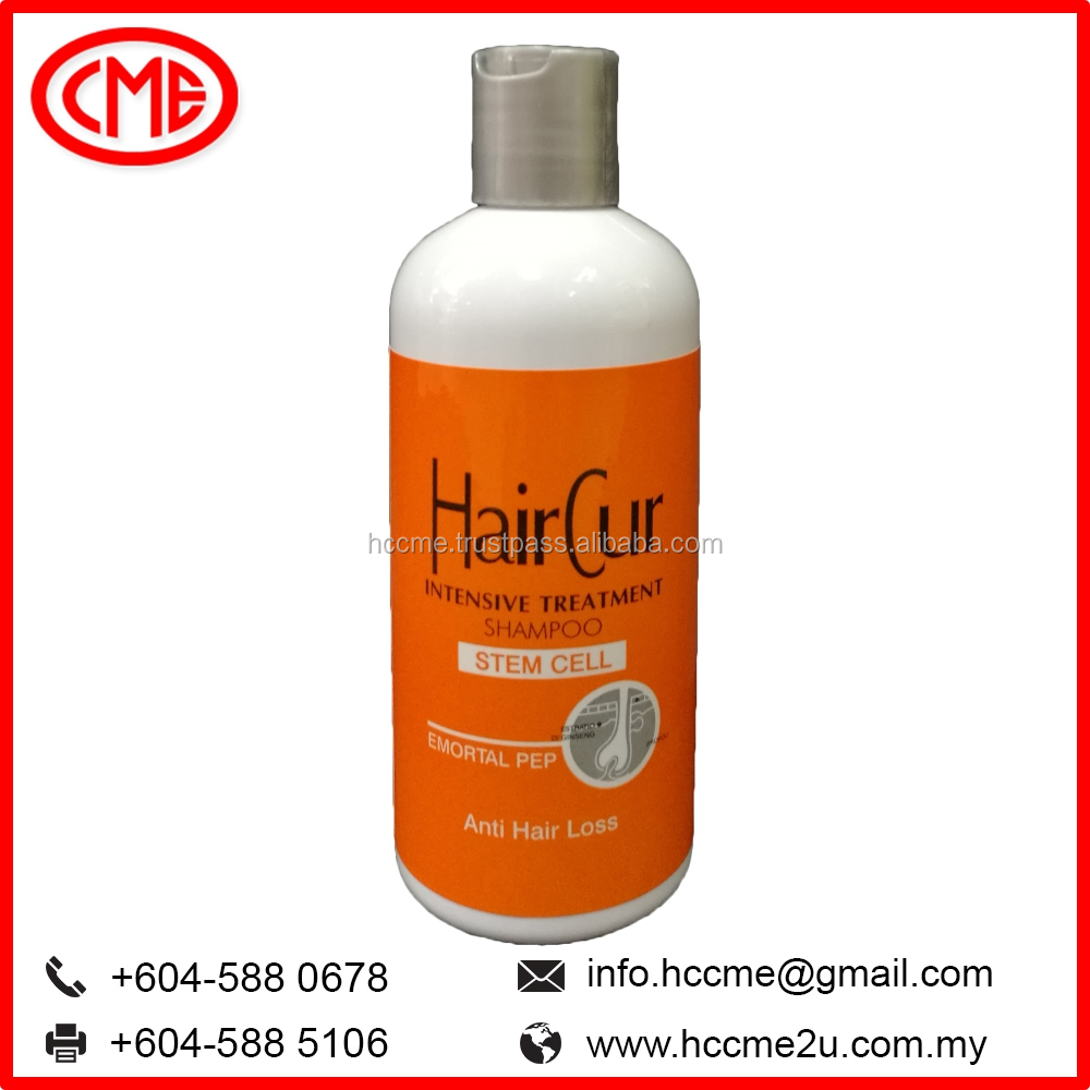 HairCur brands Stem Cell Anti Hair Loss Shampoo in Bottle