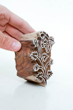 Indian Leaf Stamp Wood Block Art Stamps Handcrafted Stamping Cutting and Printing Stamp Blocks