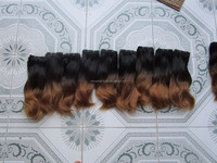 High quality ombre hair - color #1/#27 - two tones hair extensions