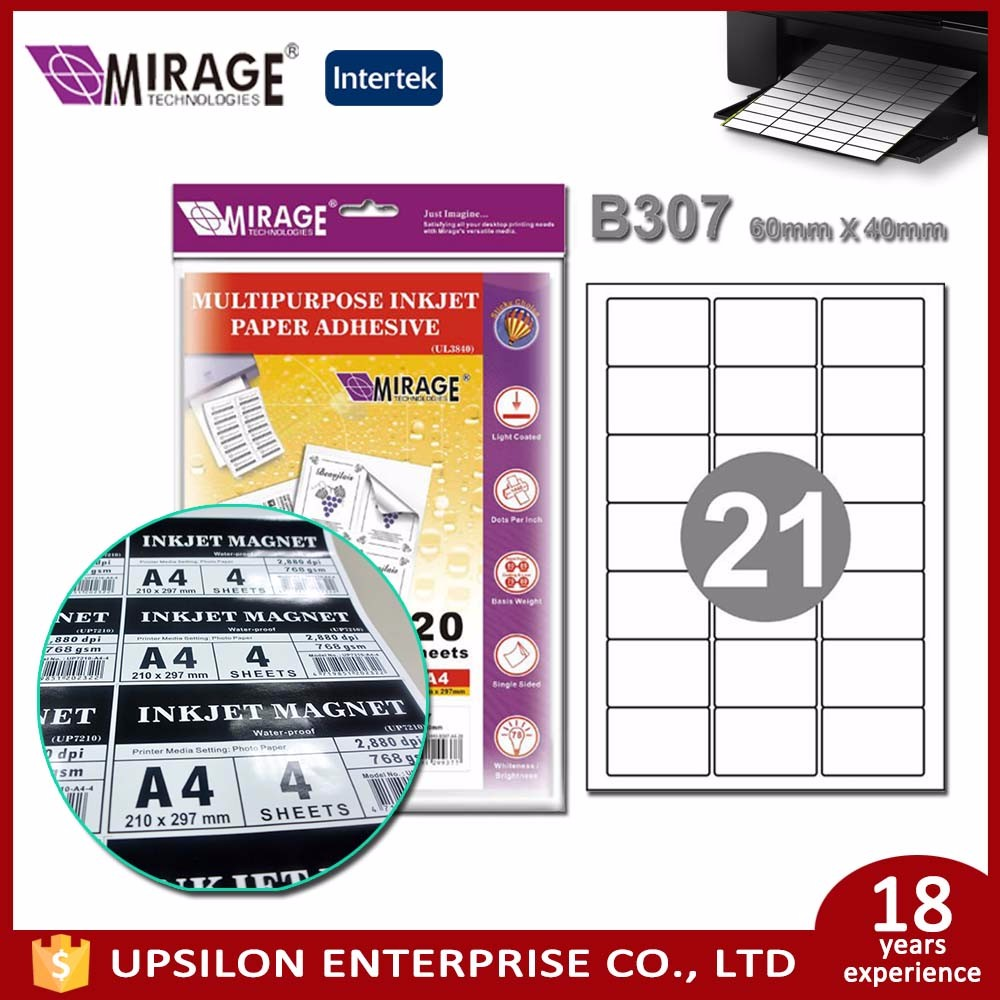 Price Use A4 Inkjet Adhesive Printing Label For 21Grids