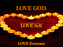 Love God Self Everyone Poster Motivational Candle Print (18x24)