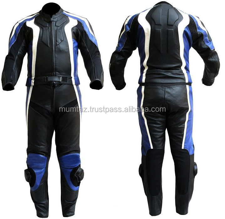1 & 2 Piece Racing Motorbike Leather Suit / with CE Approved Protectors New Men Racing Leather Motorcycle