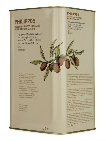 PHILIPPOS ORGANIC Extra Virgin Olive Oil 3L