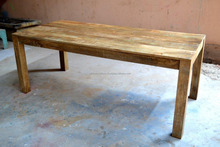 dining table reclaimed solid wood