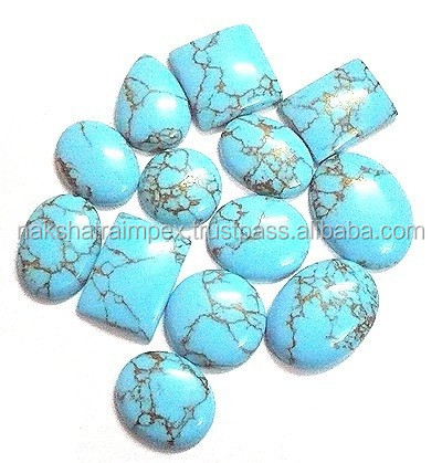 Blue Mohave Turquoise Mix Shape Cabochon Loose Gemstone