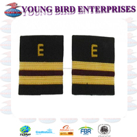 EPAULETTE AIRCRAFT ENGINEERS 2 GOLD BARS WITH MAROON | AVIATION GOLD BRAIDED SOFT EPAULETES SHOULDER BOARD | FLIGHT OFFICER
