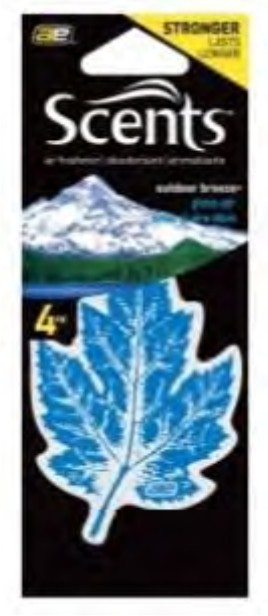 Leaf Scents Car Air Freshener 4-Pack Paper