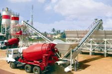 High Quality Mobile Concrete Batching Mixing Plant Used for Building & Road Constructions