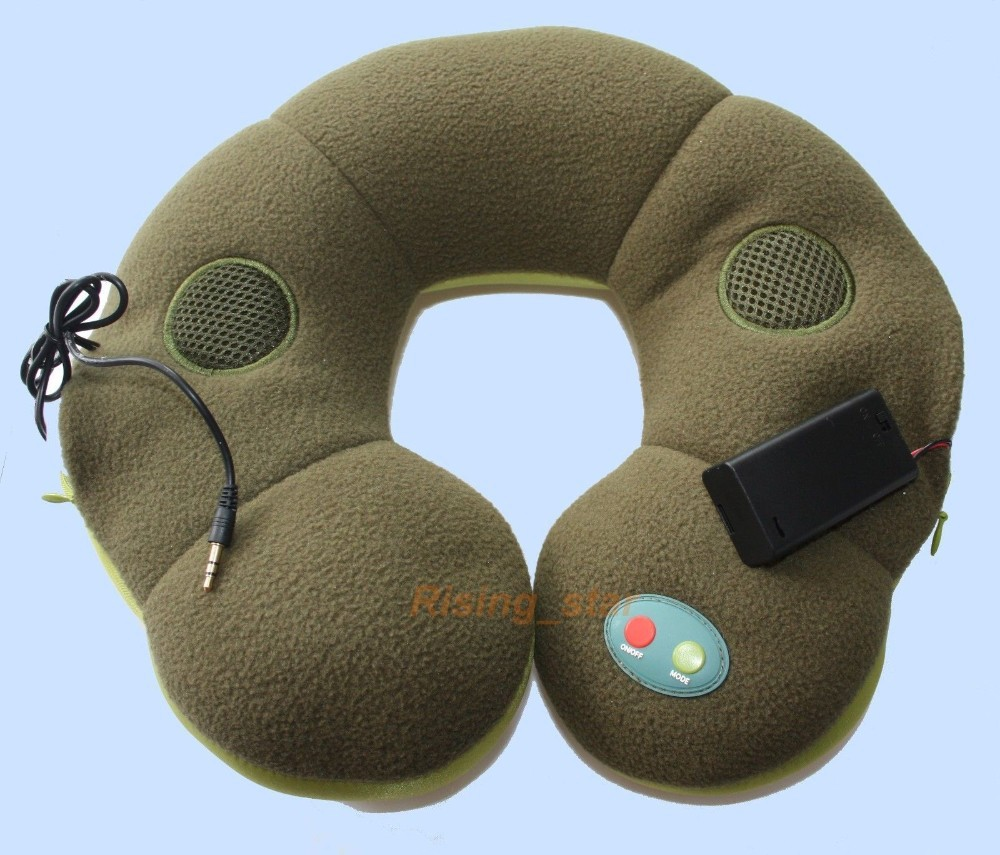Neck Massager Therapy Upper Backpain Speaker Vibration Back Pain Stress Relaxing