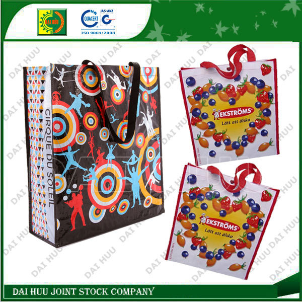 High quality colorful grocery PP woven shopping bag
