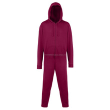 plain hood fleece adult onesie