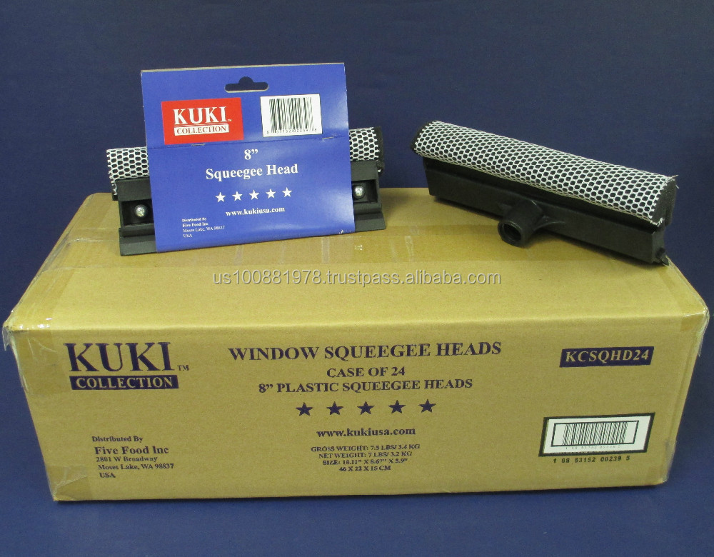 Kuki Collection Black Plastic Squeegee Head 8""