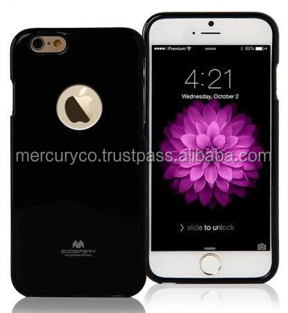 Jelly phone case Mercury Jelly case with Hole (Black)