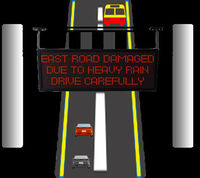 Multi lined message LED Display for traffic signals