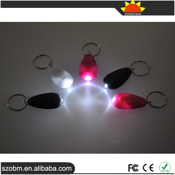 Keychain Promotional High quality mini keychain promotion gift white light F5 LED Keychain
