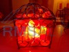 Iron Wrought Basket Lamp with Salt Chunks(Cage)