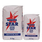 White and yellow corn maize flour