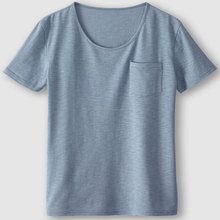 Ladies Short Sleeve T-SHirt with pocket, 100% Cotton, S/J, 160 Gsm