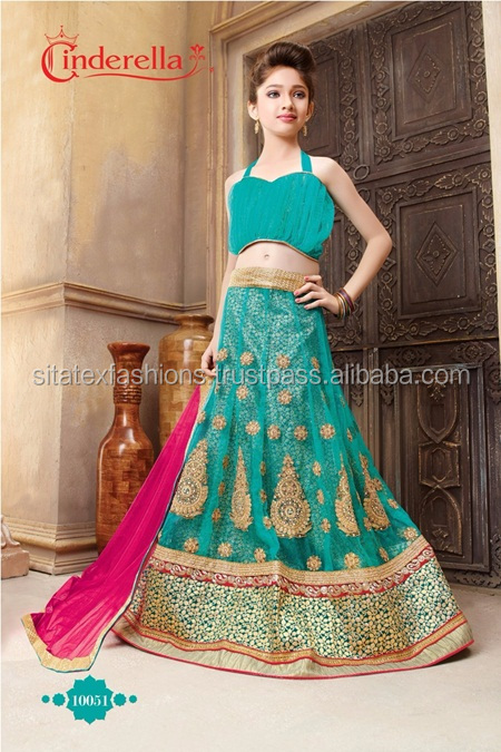 ReadyMade Kids Lehenga/ kids wear\new collection for children clothing\modest kids wear Blue