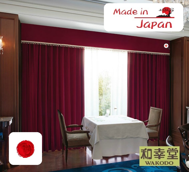 Japanese design reasonable bedroom curtains, Light Interception Curtain Fabrics from Japan, Lilycolor Curtain
