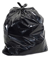 BIG BLACK PLASTIC GARBAGE BAGS