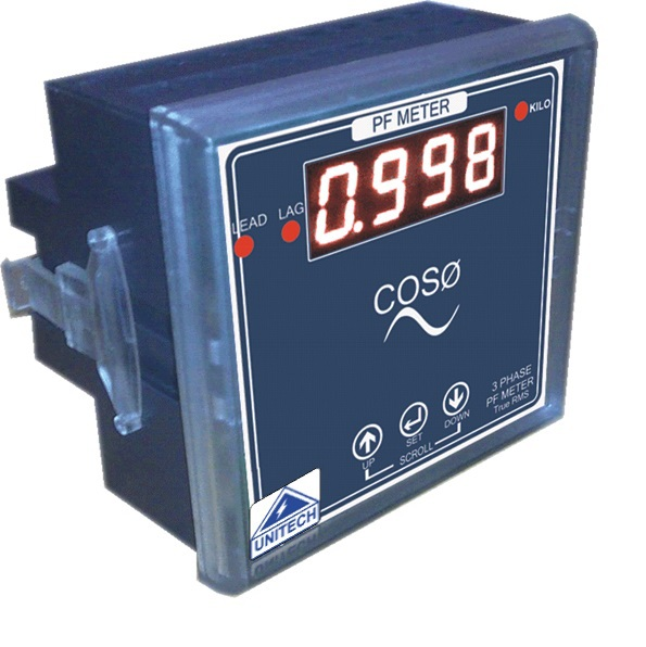 Power Factor Meter Analog : Unitech moving iron type amp meter analog mm