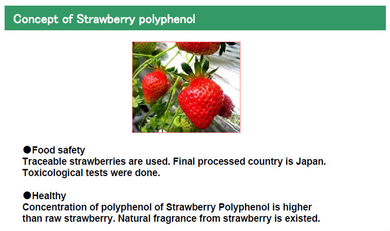 Japanese High Quality Strawberry Extract Raw Material Powder Made In Japan For Health Foods And Dietary Supplement