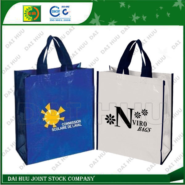 High quality fashion PP woven shopping bag laminated with BOPP