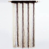 Home Decor Brown Door Window Valance Decorative Curtain Drape Fringed Wall Hanging India