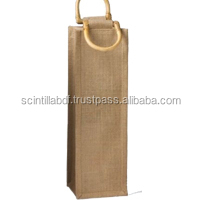 T046, LIVE GREEN, jute wine bag
