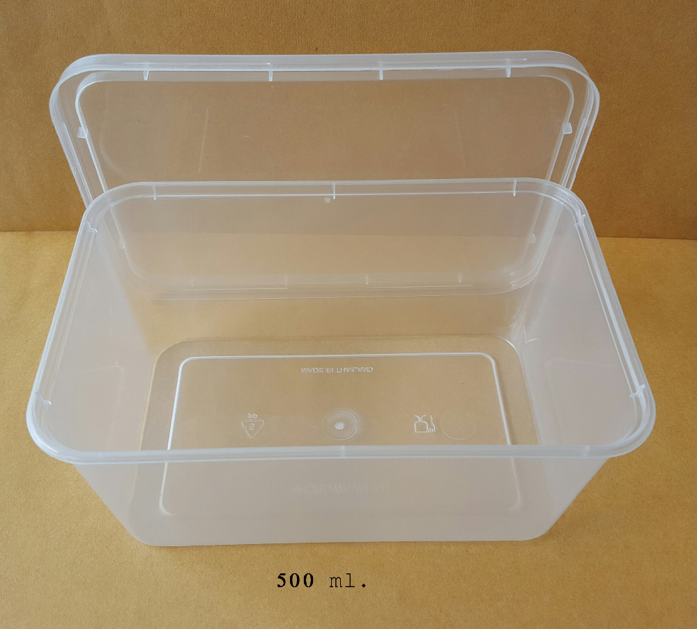 PP Plastic Disposable Food Container VPF 500