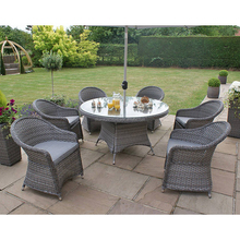 Product New design!! Bucket style rattan round sofa /patio wicker dining set