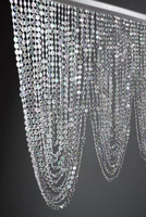 Crystal Hanging Garland Glass /Crystal Swag Valance with 66 Garlands