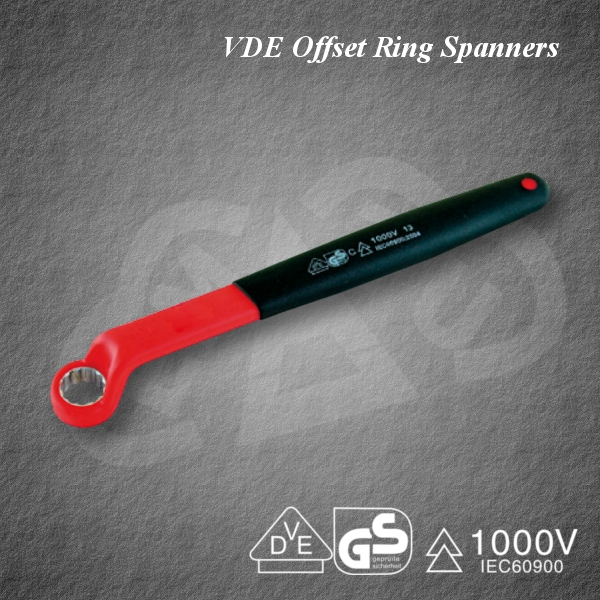 Safe VDE Offset Ring Spanners Insulated tool for industrial use