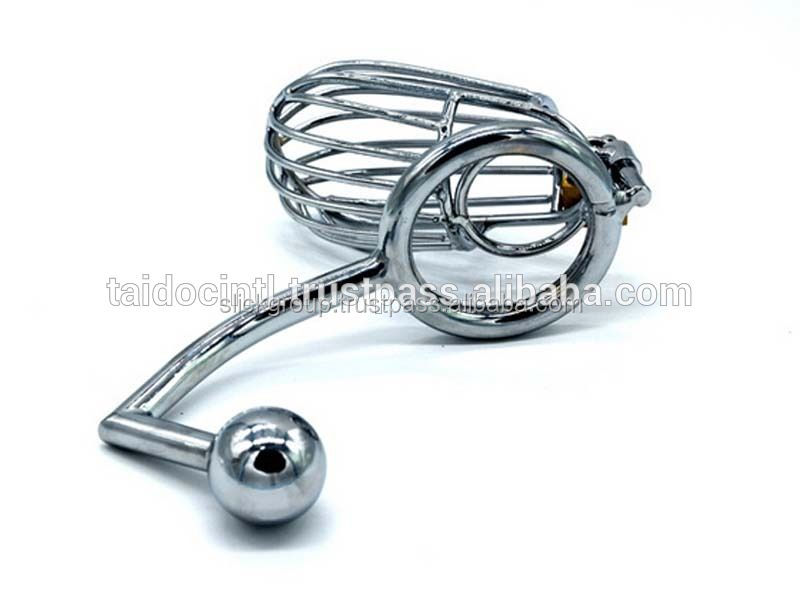 New Style Male Chastity Device Men Bird Lock Stainless Steel Cock Cage