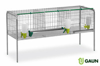 Cage for fattening chickens 3 compartments