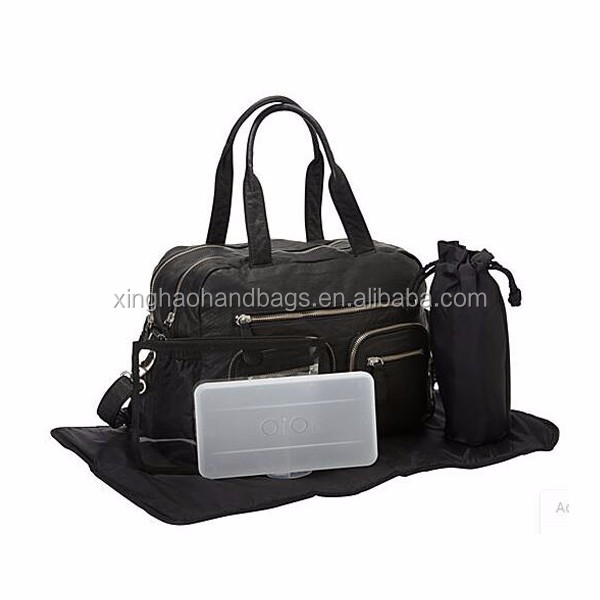 Hot selling genuine leather mummy baby diaper bag baby diaper clutch bag