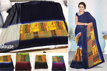 Shivani -3 weightless border attached banglori black saree