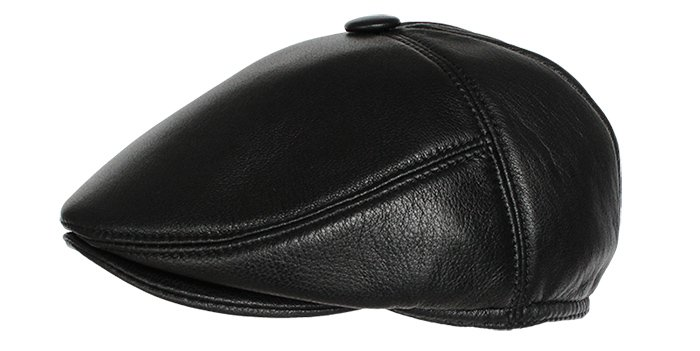 leather cap - Mens Leather Ivy Cap/ new branded
