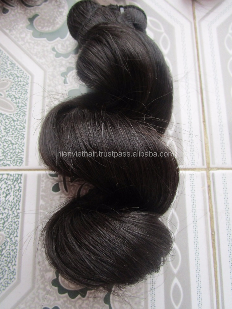 high quality loose wave human hair weaving with 100% natural human virgin hair