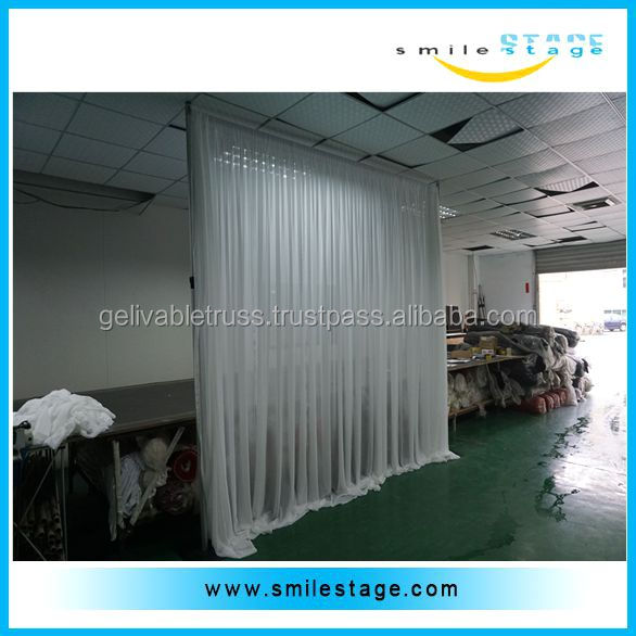 Used backdrop poles photo booth curtains