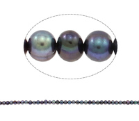 5-6mm blue black natural Potato Cultured Freshwater Pearl Beads