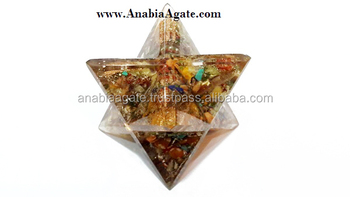 Agate Orgone Healing Merkaba : Healing Merkaba Star : Wholesale Orgone star From India : Small Size Orgone Merkaba Star