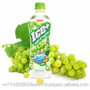 KIRIN ICE+ FRUIT TASTED WATER WHITE GRAPE FLAVOR PET BOTTLE 500ML