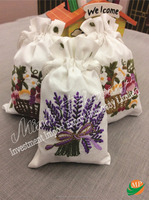 High quality embroidery fragrant bags air freshing car/living room/spa room sachet cloths bag
