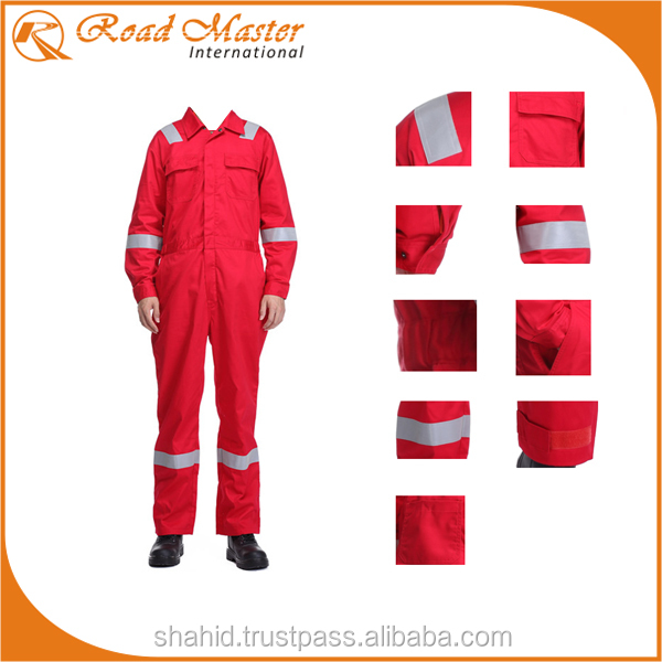 100% Pure Cotton Coveralls With Reflectors Best For Workwear