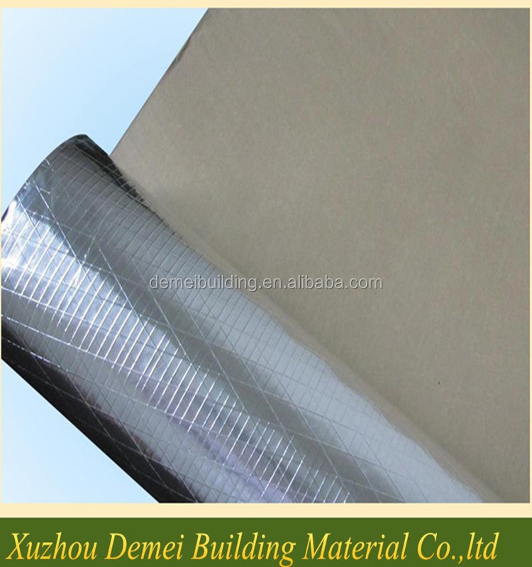 Reflective Aluminum foil woven cloth bule coated for radiant barrier insulation