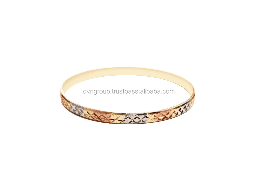Ladies Diamond Cut gold plated fashionable latest bangles