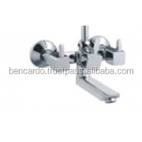 Faucet - Bathroom Faucet - Quarter Turn Faucets- Wall Mixer with L bend 115mm pipe -Bencardo Taps- L849